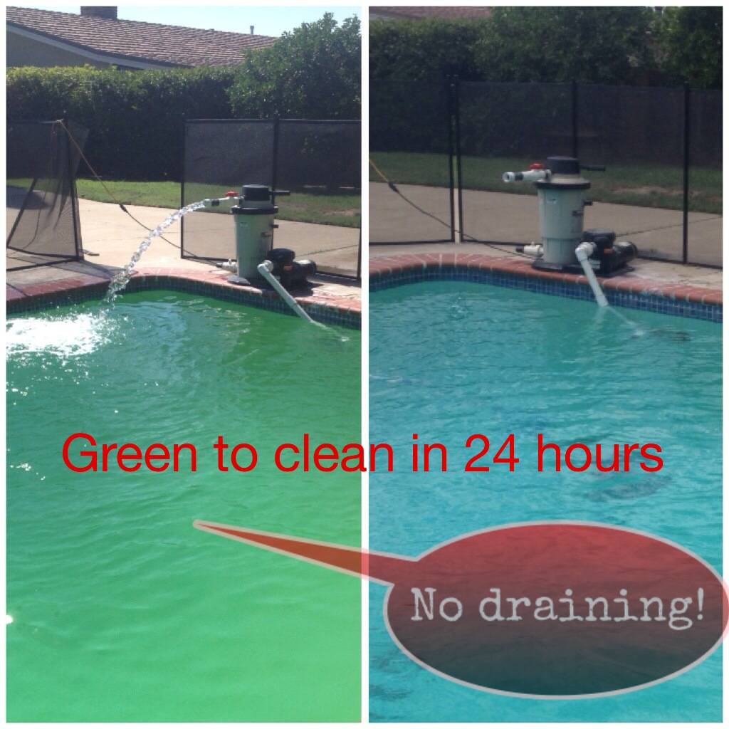 How Do You Clean A Green Pool